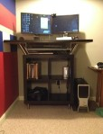 Standing desk made from IKEA parts